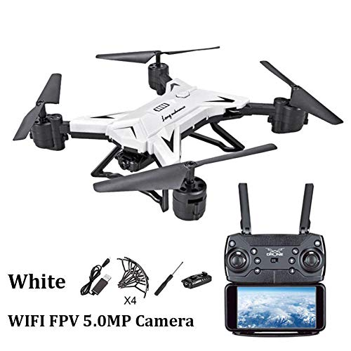 Ksruee Long Battery Life Folding Aerial Photo Drone Altitude Hold Four-axis Aircraft WiFi Image Transmission Remote Control Aircraft with Built-in Battery