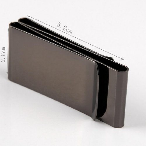 MC1047 Friendship Contemporary Black Mirror Stainless Steel Double-Sided Money Clip Wallet Suppliers Presents Idea By Y&G