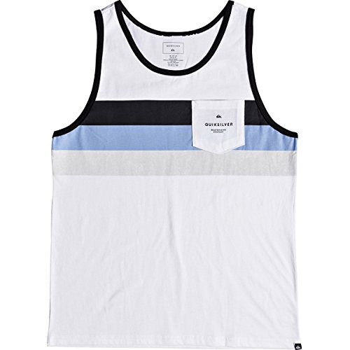 Quiksilver Men's Peaceful Progression Tank Top Tee Shirt, White, XL