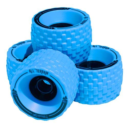 MBS All-Terrain Longboard Wheels (4), Blue