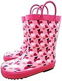 TQ Homebase Girl Boy Rain Boot Toddler Kid Size Rainbow Red Yellow Hearts Dinosaur Camo Flowers