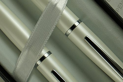 Cross Limited Edition ATX Cross Pearlescent Ivory White with Cross signature center band Pen and 0.7MM Pencil Set . Ordination, graduation, Baptismal, birthday and wedding gift