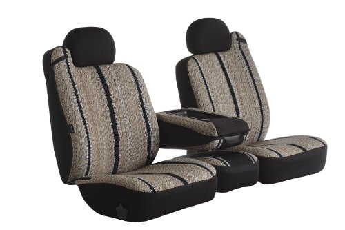 Fia TR49-2 BLACK Custom Fit Front Bench Seat - Saddle Blanket, (Black)