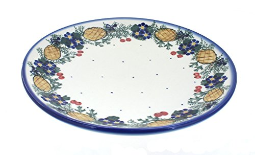 Polish Pottery Pinecone Dinner Plate - Pottery Pinecone