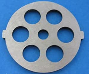 """Meat Grinder plate disc die for electric Waring Pro & Oster w/ 1/2"""" Course Grind"""