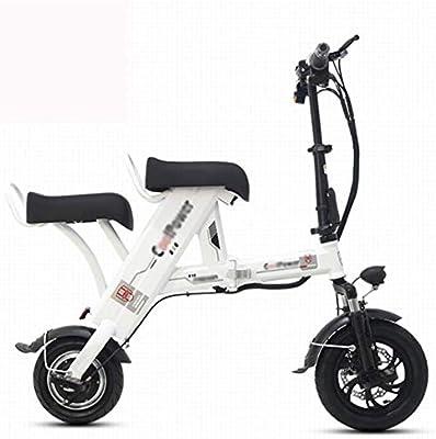 ZXMDP Bicicleta eléctrica Ligera y Ruedas compactas Plegables de ...