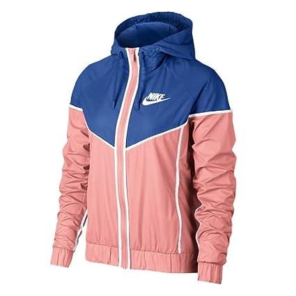 Nike NSW WR Chaqueta, Mujer, (Coral desteñido/Royal Juego/Blanco)