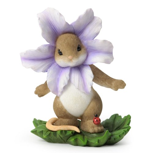 Enesco Charming Tails Flower Figurine