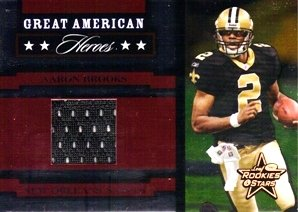 2005 Leaf Rookies and Stars Great American Heroes Jerseys #GAH1 Aaron Brooks Jersey /250