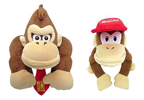 Little Buddy Super Mario All Star 1586 Donkey Kong & 1587 Diddy Kong (Set of 2) Stuffed Plushes by Little Buddy