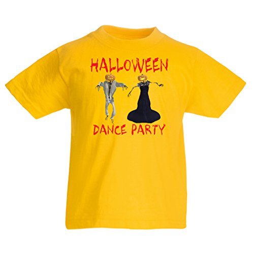 T Shirts for Kids Cool Outfits Halloween Dance Party Events Costume Ideas (12-13 Years Yellow Multi -