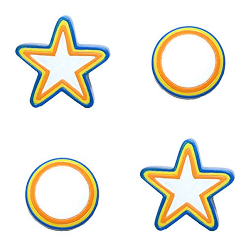 Colorful Stars Circles 2 Pack Drawer Pulls-Cabinet - Backyardigans Pull