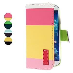 HOR Color de la Caso a juego del Leather PU con el soporte y Slot Card, Stylus y la Film de pantalla para Samsung Galaxy S4 i9500 (colores surtidos) , Amarillo