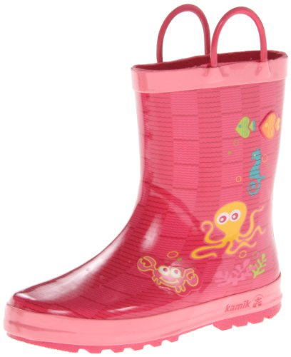 Kamik stivali di gomma unisex bambino Octopus EK6358, Rosa (Rosa), 35