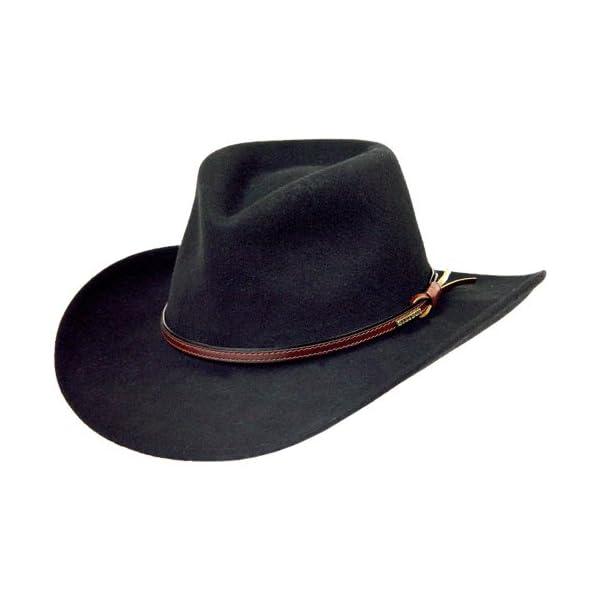 Stetson-Mens-Bozeman-Wool-Felt-Crushable-Cowboy-Hat-Twboze-813007-Black