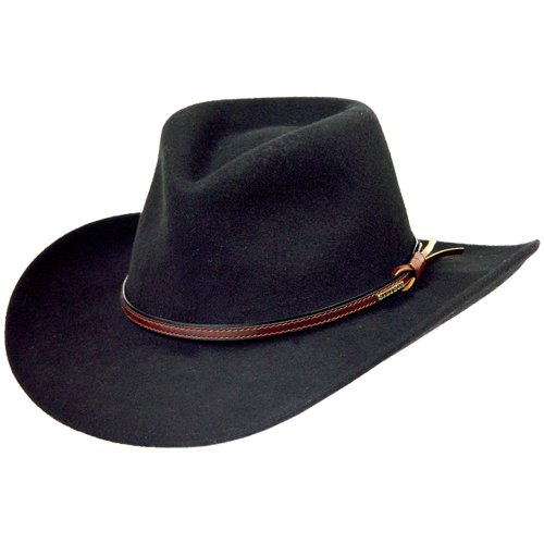 Stetson Men's Bozeman Wool Felt Crushable Cowboy Hat (XX-Large, Black)