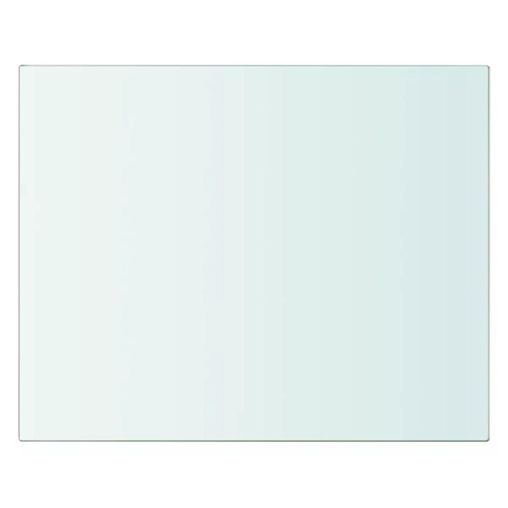 40x20cm Mensola in Vetro Temperato Trasparente Ripiano Lastra Scaffale da Bagno Supporto da Parete Ripiano Singolo in Vetro