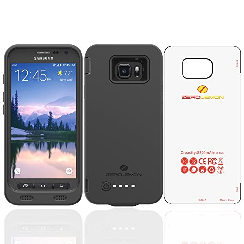 Samsung Galaxy S7 Active Battery Case, ZeroLemon S7 Active 8500mAh Extended Battery with Soft TPU Full Edge Protection Case - Black(NOT FOR THE SAMSUNG GALAXY S7 EDGE OR S7)