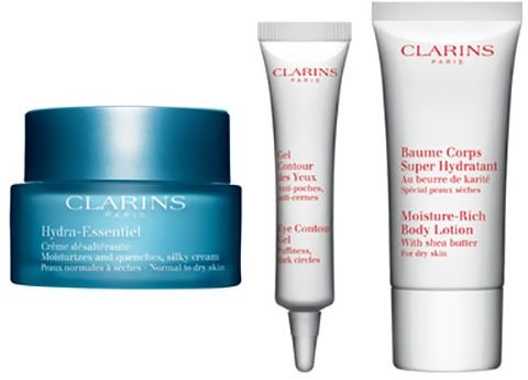 Clarins Collection (Clarins Hydra-Essentiel Head-to-Toe Moisture Collection for Normal to Dry Skin)