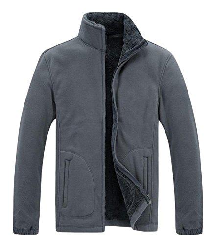 Sweater Men's Stand Grey Coat Warm Jacket M Dark amp;W Zipper Collar amp;S 8qBTUKRUw