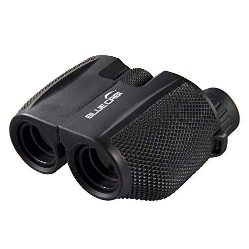 BlueCabi 10x25 Compact Binoculars - Lightweight Foldable High Powered Clear Vision Binocular with Weak Light Night Vision - Great for Bird Watching, Outdoor Sports, Games, Concerts & More