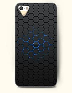 fenglinliniPhone 5/5S Case, OOFIT Phone Cover Series for iphone 5/5s iPhone 5 5S Case (DOESN'T FIT iphone 5/5s)-- Black And Blue Hexagon Pattern -- Honeycomb Pattern