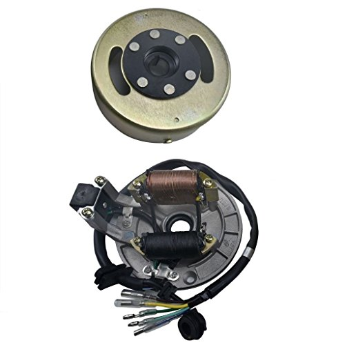 WPHMOTO Magneto Stator Ignition Generator Plate Flywheel Assembly Kit 2-Coils For 50cc 110cc 125cc Dirt Pit Bike SSR SDG Zongshen Lifan