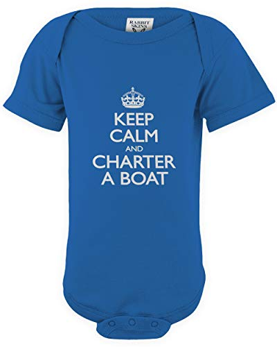 Used, shirtloco Baby Keep Calm and Charter A Boat Infant for sale  Delivered anywhere in USA