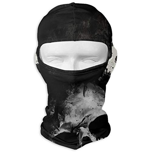 Leopoldson Raven Skull Balaclava UV Protection Windproof Ski Face Masks for Cycling Outdoor Sports Full Face Mask Breathable ()