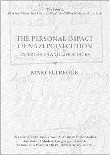 Buy The Personal Impact of Nazi Persecution  Experiences and Life