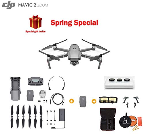 Mavic 2 Zoom Drone Quadcopter, Photographer Bundle, with Extra Battery, Filter Set, Landing Pad and Landing Gear ()