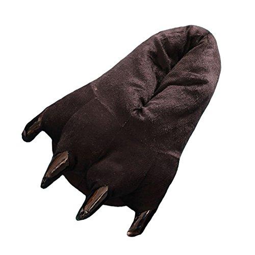 [Amigo Unisex Plush Bear Paw Animal Slippers, Black, S (little kid 12 to little kid 3)] (The 3 Amigos Costume)