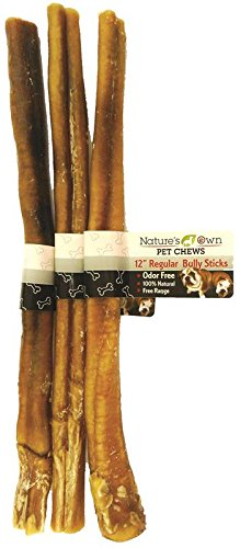 Best Buy Bones - USA Made 3-Pack Odor-Free USA Bully Sticks, 12-Inch - Healthy Pet Chews for Dogs -  007638