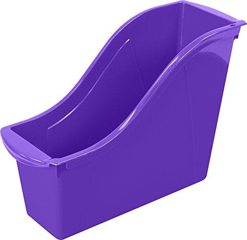"Storex Small Book Bin, 11.75 x 4.5 x 8.5"", Purple, Case of 6 (71110U06C)"