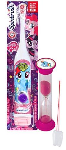 "My Little Pony ""Rainbow Dash"" 2pc Bright Smile Oral Hygiene Set! Turbo Spin Toothbrush & Brushing Timer! Plus Bonus ""Remember to Brush"" Visual Aid!"