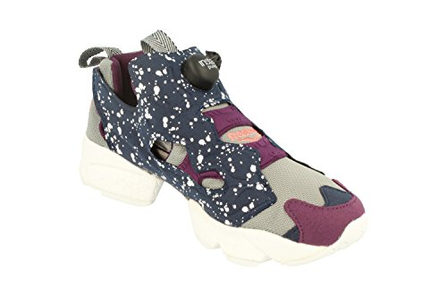 Reebok Instapump Fury Sp Garçons Sneakers / Chaussures Bleu, Violet, Blanc, Gris V66116