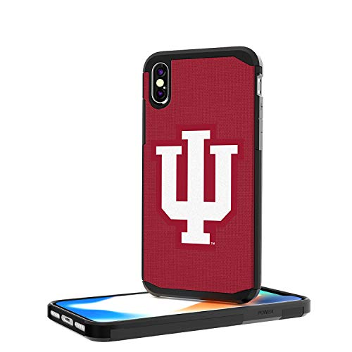 Keyscaper KRGDIX-00IU-SOLID1 Indiana Hoosiers iPhone X/XS Rugged Case with Solid Design