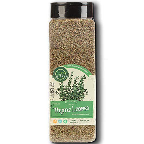 Thyme, Whole Leaves | 9 Ounce - 227 Gr | Dried Thyme Spice - Seasoning