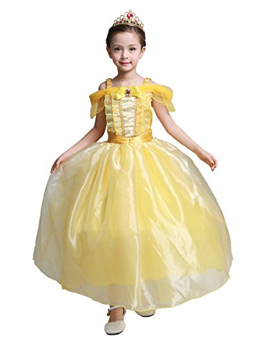 Belle Princess Halloween Costumes (Dressy Daisy Girls' Princess Belle Costumes Princess Dresses Halloween Fancy Dress Size)