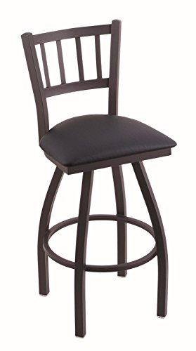 416izxwel%2BL - Holland-Bar-Stool-Co-810-Contessa-25-Counter-Stool-with-Black-Wrinkle-Finish-and-Swivel-Seat-Allante-Dark-Blue