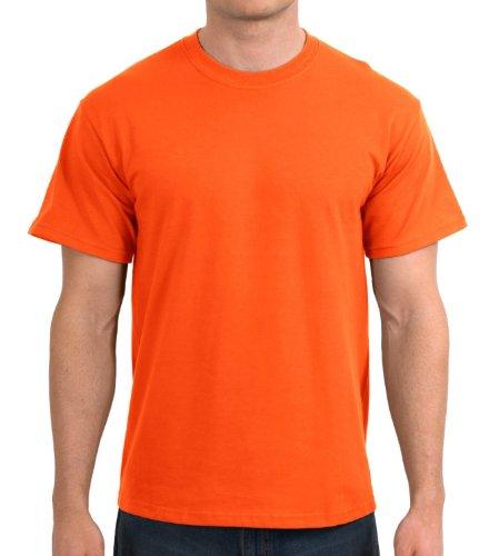shirt À Homme T Safety Courtes Gildan Manches Orange 54A7xB