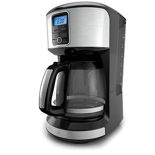 BLACK+DECKER 12-Cup Programmable Coffeemaker, Stainless Steel, ()
