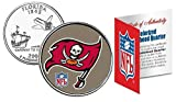 Licensed Tampa Bay Buccaneers NFL Colorized Florida Statehood Quarter! W/H COA & Display Stand!
