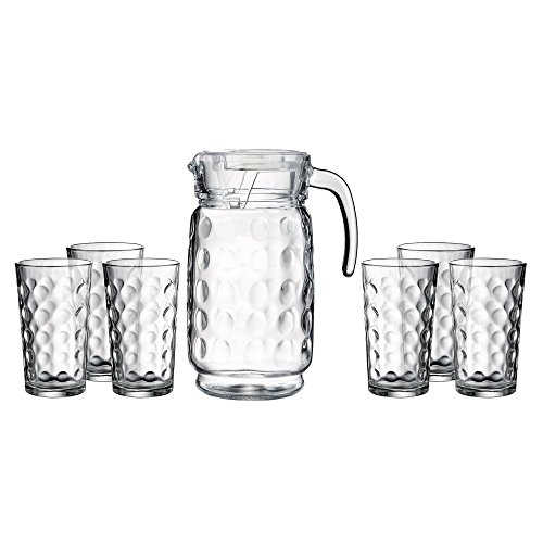 Style Setter Provence 7 Piece Beverage Set with Pitcher, - Piece Beverage 7