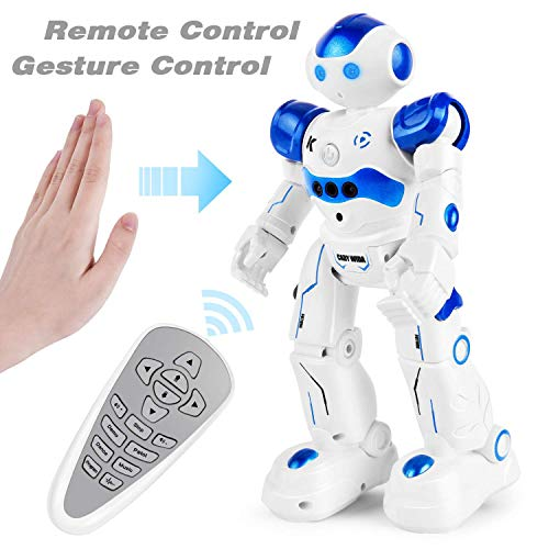 Rainbrace Smart Robot Toys Remote Control Robot,RC Robot for Kids,Robotic for Boy Toys 4 5 7 8 9 Years Old Boys Girls Kids Birthday Gift(Blue)