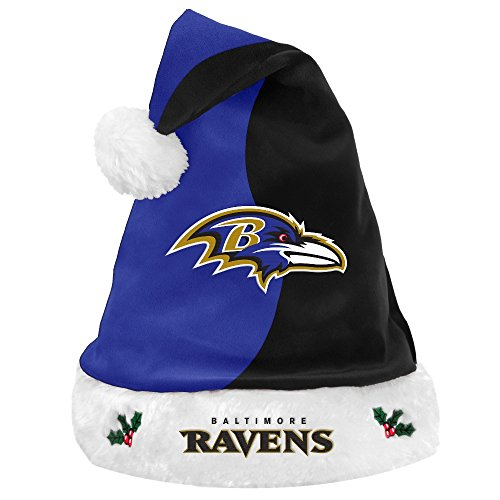 Baltimore Ravens 2017 NFL Basic Logo Plush Christmas Santa -