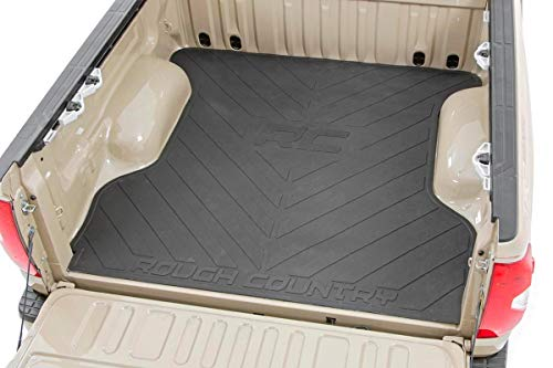 Rough Country Rubber Bed Mat (fits) 2007-2019 Toyota Tundra 5.5 FT Bed RCM618 Bed Mat w/RC Logos Tundra ()