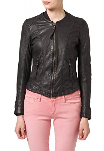 Chaqueta Leather Mujer Negro Junction Para 5qwOwXnrS