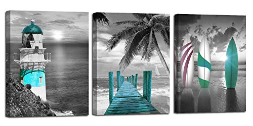 Arjun Lighthouse Painting Surfboard Seascape product image