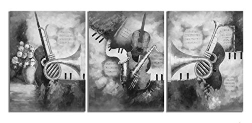 Music Art Paintings for Wall Black and White Color Print on Canvas Stretched and Framed for Home Decor Bedroom Living Room - Calgary Women Band